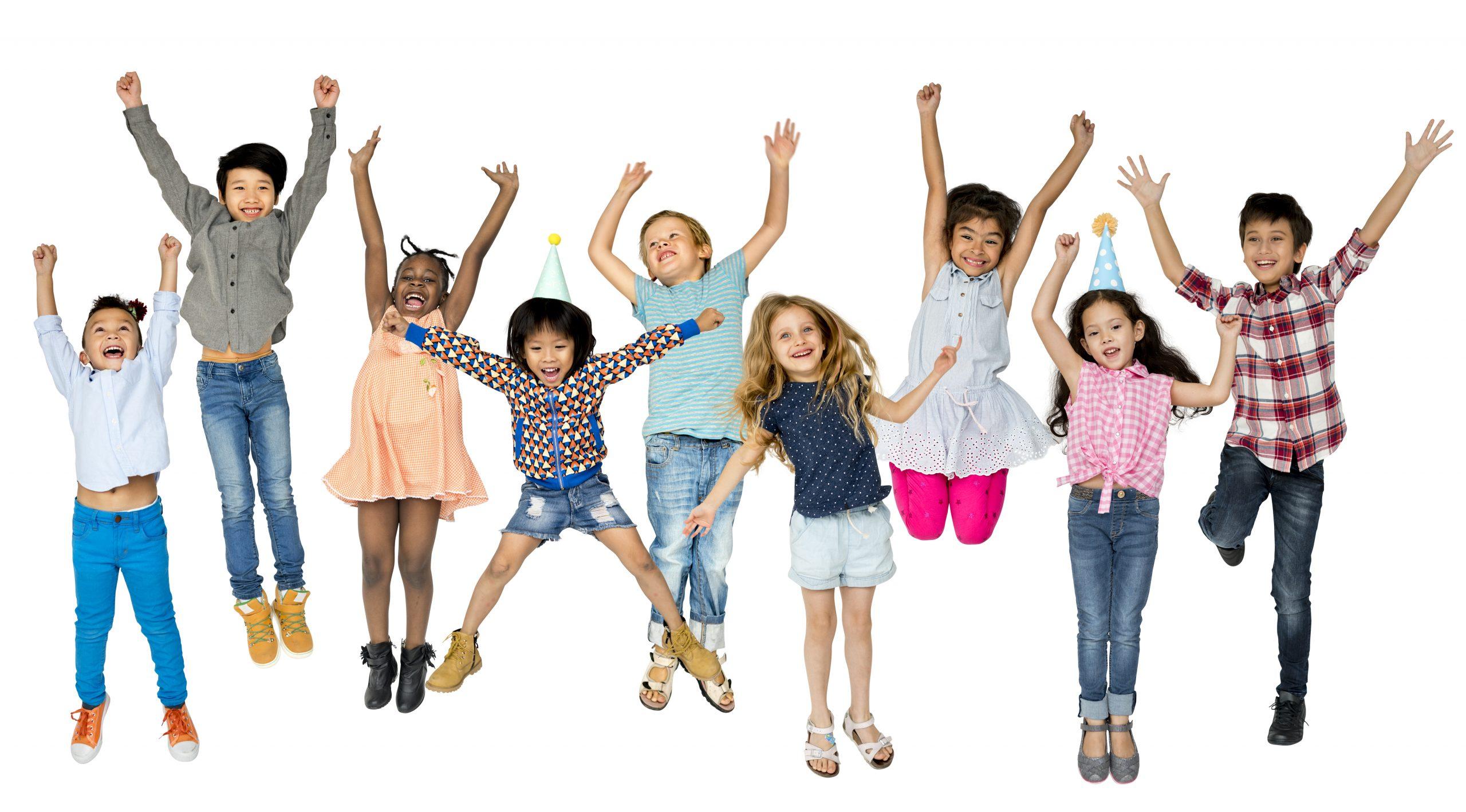 Dança para crianças - crianças a saltar