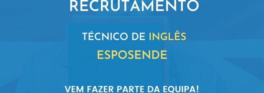 Recrutamento de Inglês para Esposende